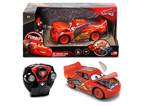 Coche Radiocontrol Crash Rayo McQueen de Cars 3 (Dickie 3084018)