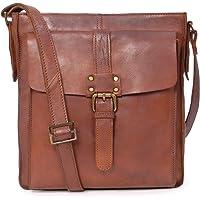 Ashwood Cross Body Bag - Kindle iPad Tablet - A5 Mid-Size - Shoulder Messenger Work Travel Bag - Genuine Leather - 7994 - Tan