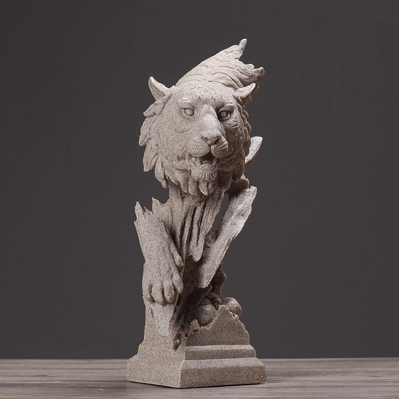 KIKIBEDYZ Statues Sculpture Figurines Statuettes,Wild Tiger Design Bust Animal Figurines Art Modern Creative Statues Artwork for Home Garden Corridor Living Room Statuettes Ornaments Decor