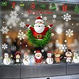 WTOR 250pcs クリスマス 窓ガラス ステッカー 大量 ウォールステッカー 北欧風 サンタクロース クリスマスエルク 3D 雪の結晶 雪花 剥がせる壁紙 シール DIYインテリアステッカー 店舗 パーティー 飾り用品 雰囲気満点