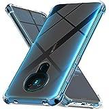 Ferilinso Fodral för Nokia 5.3 skal, [Stärk version med fyra hörn] [Skydd för kamera och skydd] Stötsäker mjuk TPU gummi…