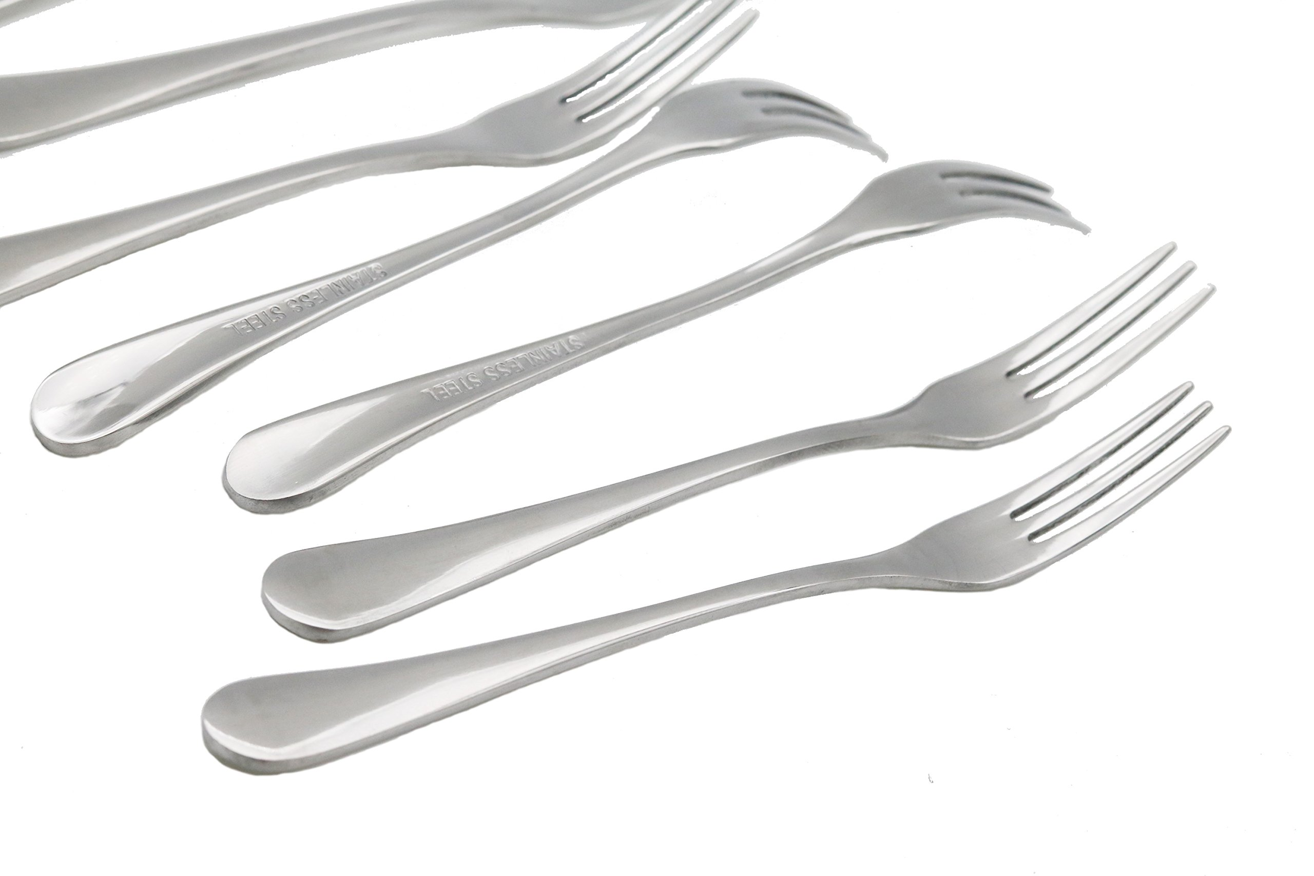 Fruit Forks, Koyaya lifestyles 8-piece Stainless Steel Three Prong Forks Bistro Cocktail Forks Tasting Appetizer Forks Set Mini Cake Forks (Fruit-Fork)