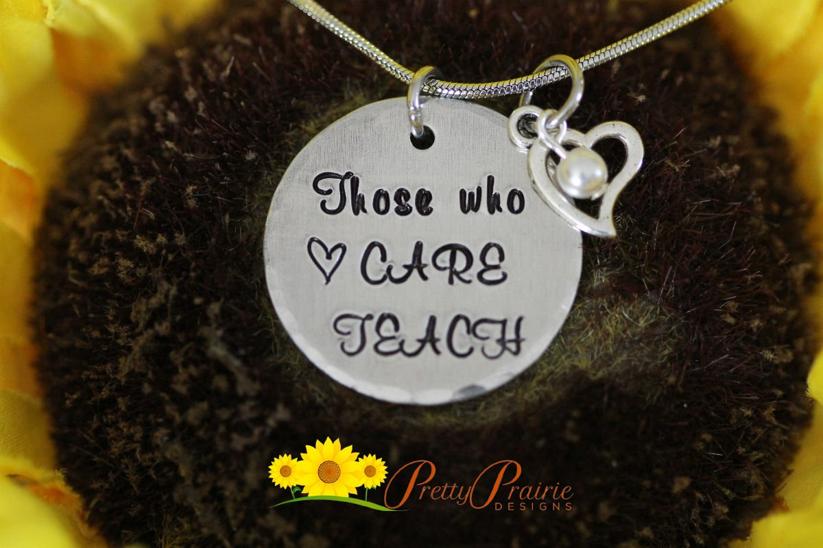 Appreciation Science Teacher Gift Necklace Small Personalized Gold Coin Charm Necklace Gratitude Gifts Thank You Gift for Science Mentor