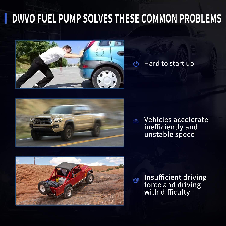 DWVO Fuel Pump for 2002 2003 Ford Explorer Mercury Mountaineer 4.0L Flex Includes Sport Trac