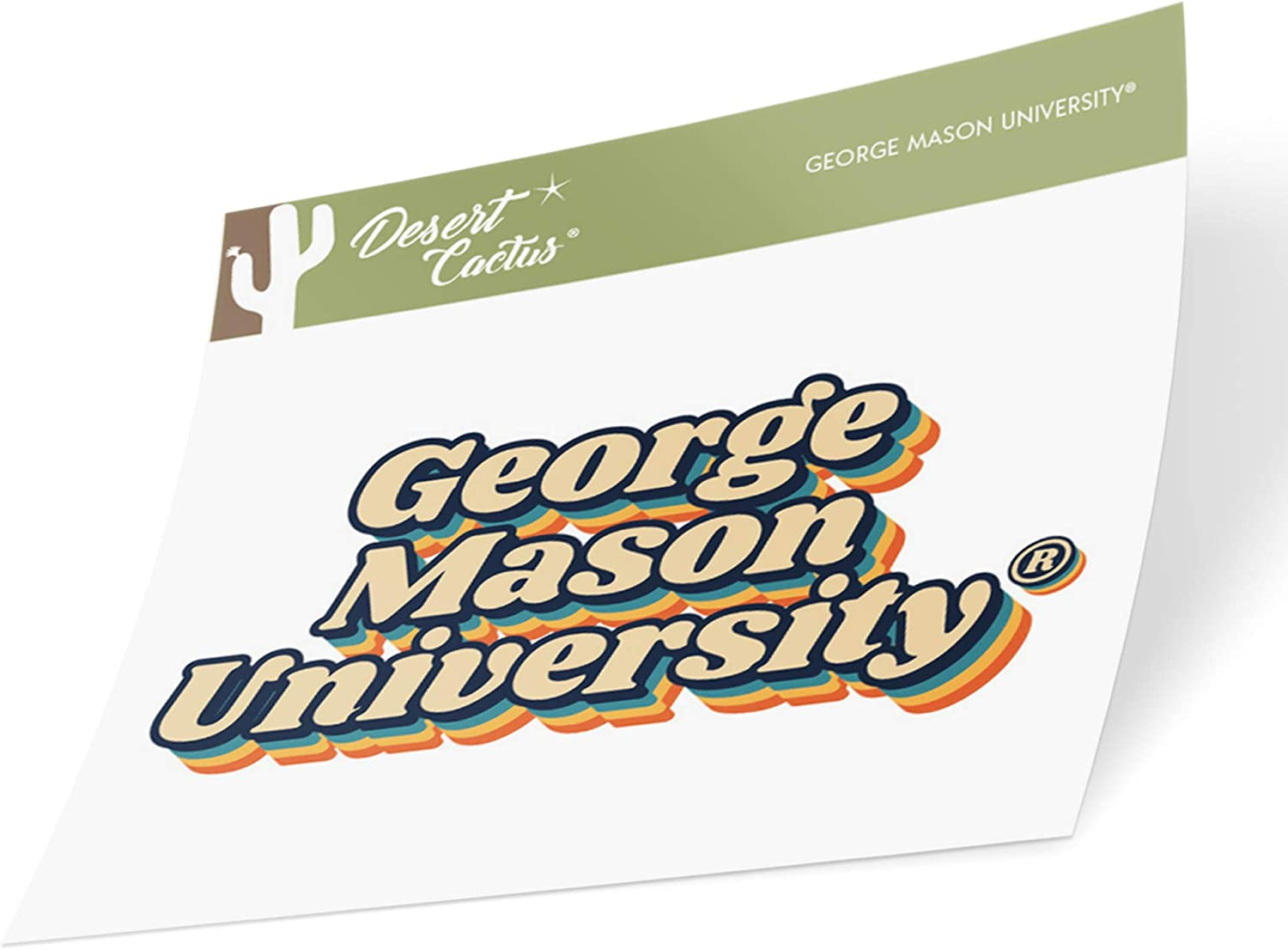 70s Name Sticker George Mason University GMU Patriots NCAA Vinyl Decal Laptop Water Bottle Car Scrapbook