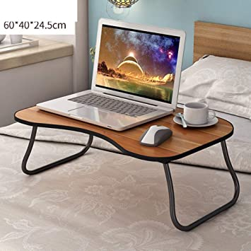 Ordenador portátil escritorio con ranura para tarjeta,Cama mesa de Bandeja de cama de servicio portátil Mesa de pc notebook portátil plegable Escritorio de ...