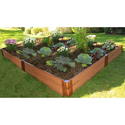 frame it all 1 inch series composite raised garden bed kit 8ft x - Raised Garden Bed Kit