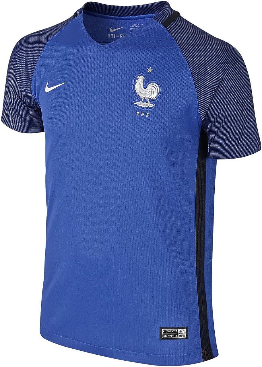 Nike FFF YTH SS HM Stadium JSY - Camiseta de manga corta de la línea Selección de fútbol de Francia, Unisex