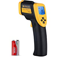 Etekcity 800 Termómetro Infrarrojo Digital Láser, -50℃ a 750℃ para Coche, Cocina, Agua, Piscina, Lasergrip Medidor IR…