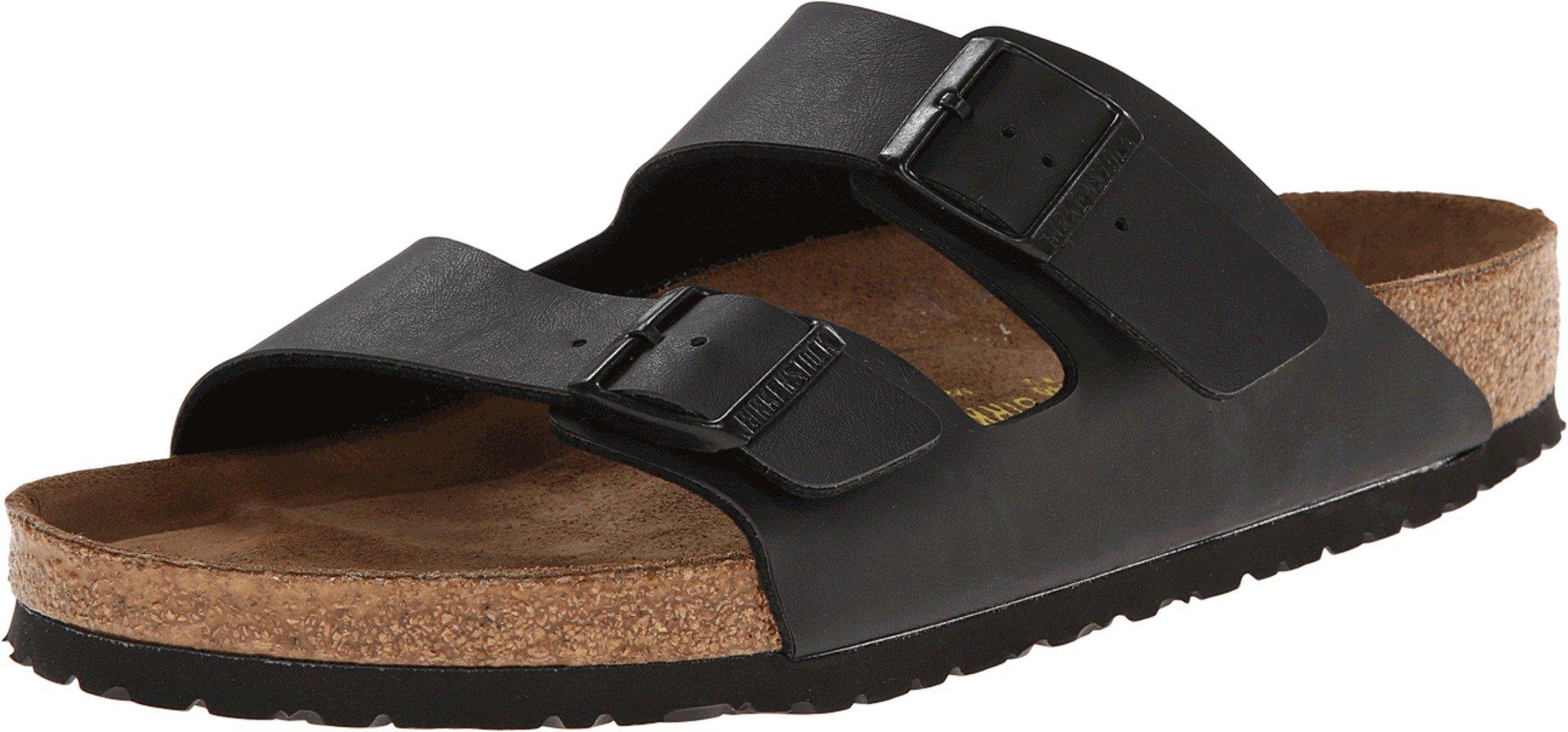 Birkenstock Unisex Arizona Black Birko-flor Sandals - 9-9.5 B(M) US Women/7-7.5 D(M) US Men by Birkenstock