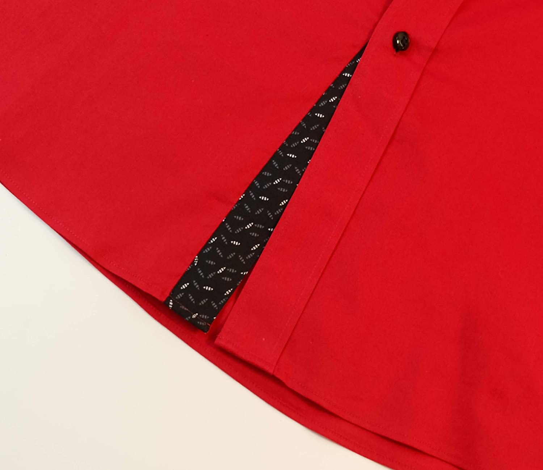ExQuisite.ZFZ Mens Casual Button Down Shirts Cotton Regular Fit Long Sleeve Dress Shirt