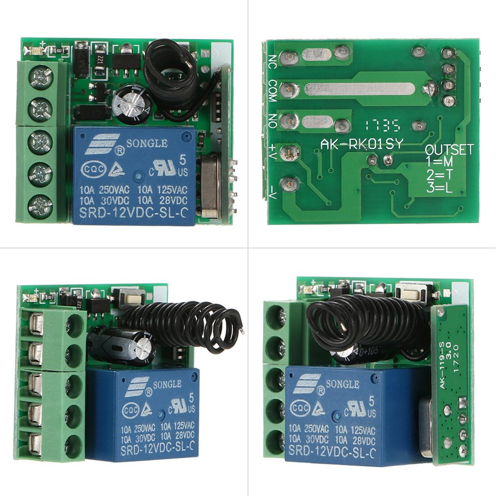 Owsoo Smart Home 433mhz Dc 12v 1ch Wireless Remote Switch Relay Rf Transmitter Circuit Diagram Receiver Universal Control Module And