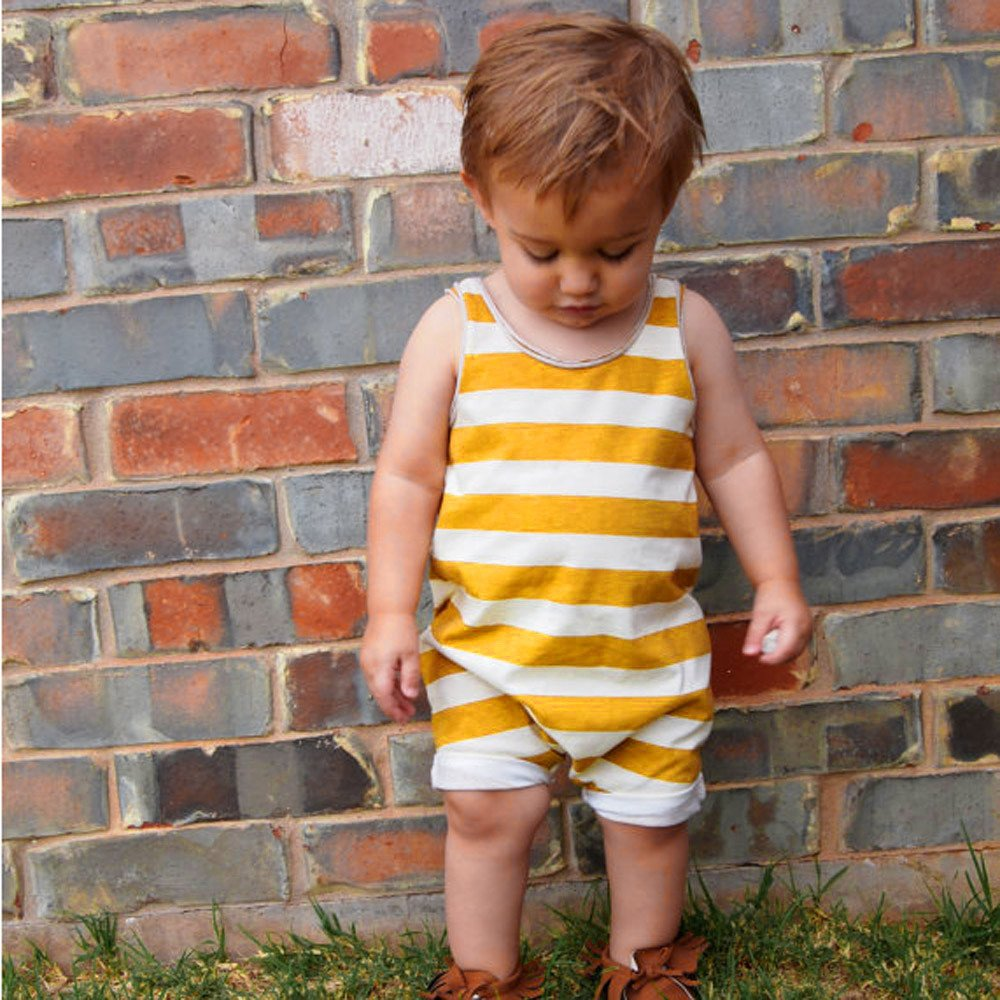Palarn Stylish Toddler Jumpsuit, Baby Boys&Girls Striped Sleeveless Cute Romper Outfits Clothes by Palarn (Image #3)