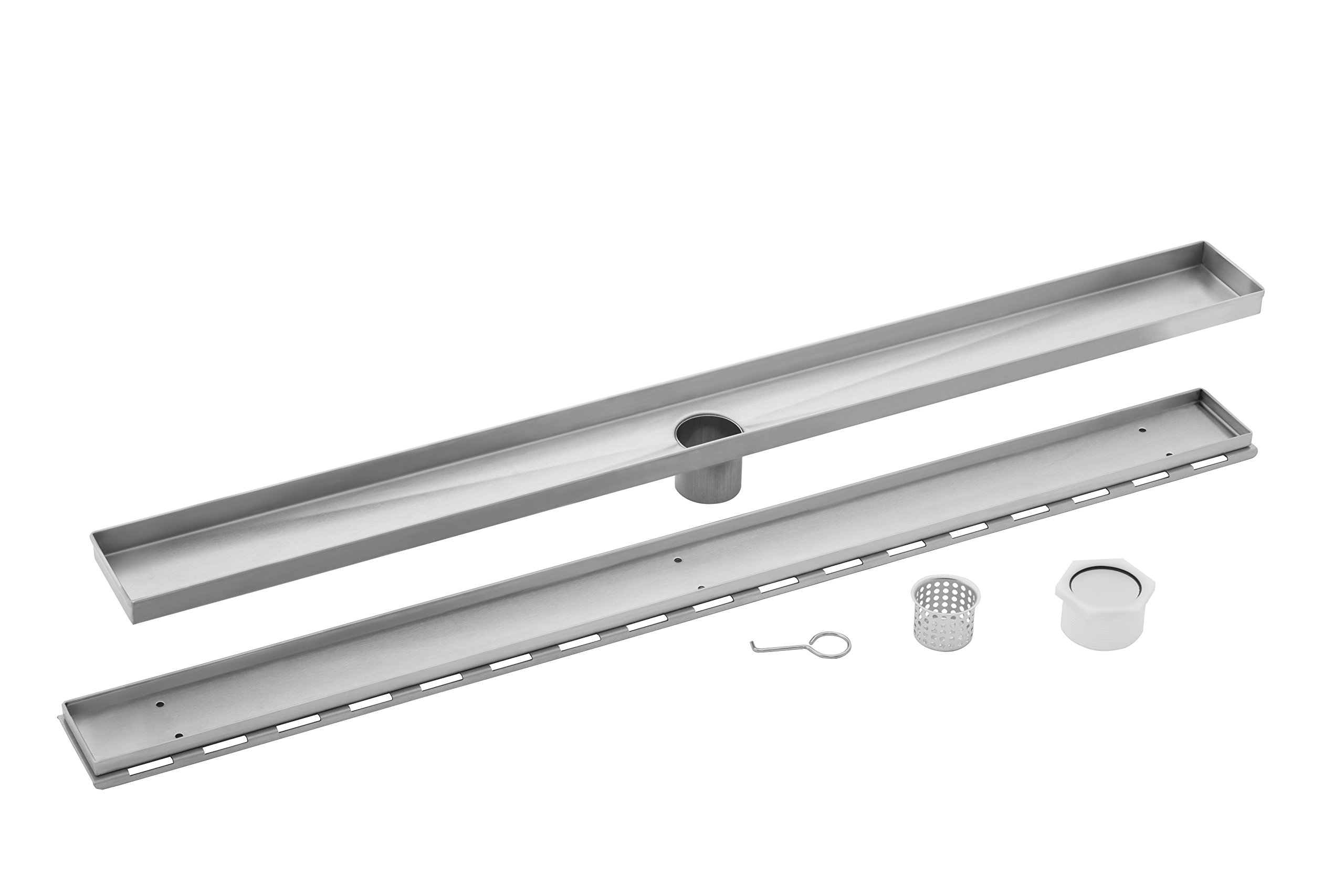MSLD-TI36 36-in Linear Shower Drain with Tile Insert by Magnus Sinks