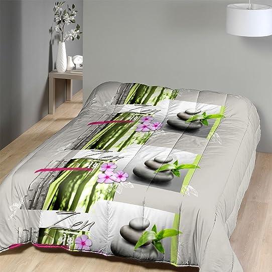 Couette Imprimée 220X240 Cm Esprit Zen: Amazon.Fr: Cuisine & Maison