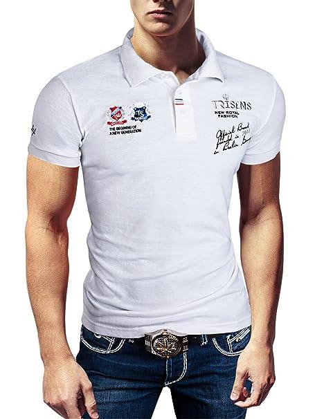 Polo Camiseta fina, de hombre, manga corta, de piqué: Amazon.es ...