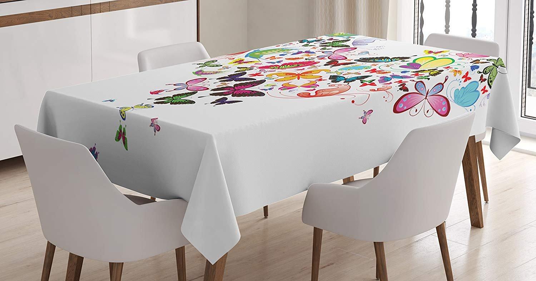 Amazon Com Hearts Tablecloth Linen Decor Table Cover For Kitchen