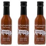 Merfs Fool's Paradise Ghost Pepper Hot Sauce, (3) 5 oz Bottles