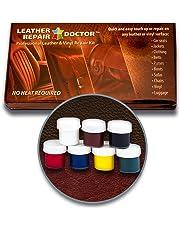 Kit de reparación de piel: 7, color no-heat, secado rápido, solución de piel y reparador de vinilo para muebles, asientos de coche, chaqueta, botas y bolso profesional