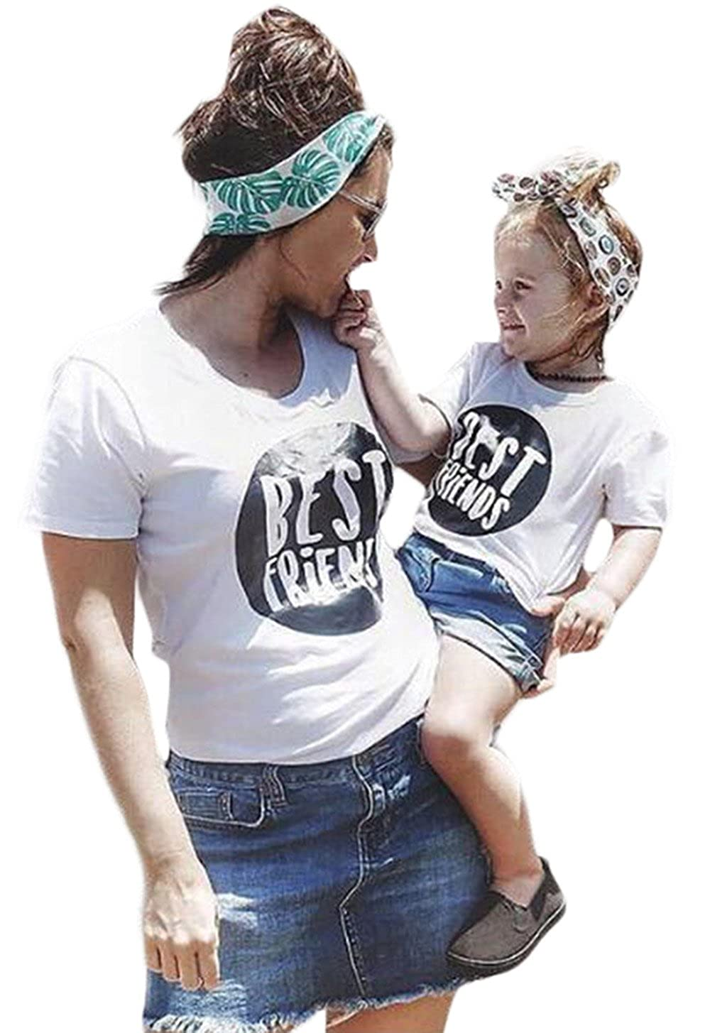 b11e741eb5b5 Best Friend Family Tshirt Mother Daughter Top Tees Family Matching ...