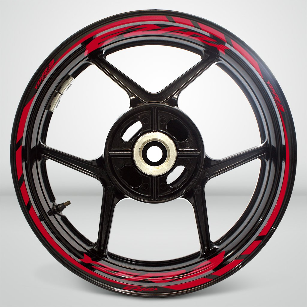 Reflective Red Motorcycle Rim Wheel Decal Accessory Sticker For Yamaha YZF R3