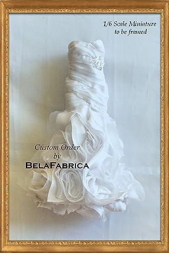 Amazon.com: Frame your Wedding Dress Keepsake 1/6 Scale Miniature By ...