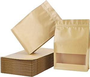 Zip Lock Stand Up Bags, Eusoar 50pcs 7.9