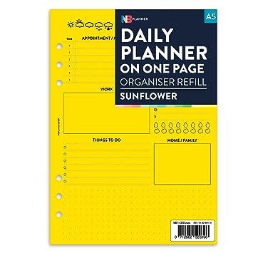 Planificador de agenda semanal sin fecha, cuenta con anillos ...