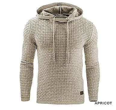 b4fd0fa709a5 Hoodies Men 2019 Male Long Sleeve Solid Color Hooded Sweatshirt Mens Hoodie  Tracksuit Sweat Coat Beige