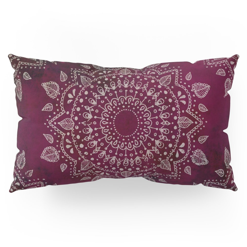 Society6 Wine Mandala Pillow Sham King (20'' x 36'') Set of 2