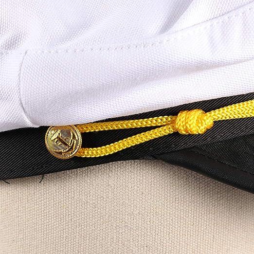 635da15f9 Amazon.com: Amosfun Captain Cap and Tie Captain's Hat Adjustable ...
