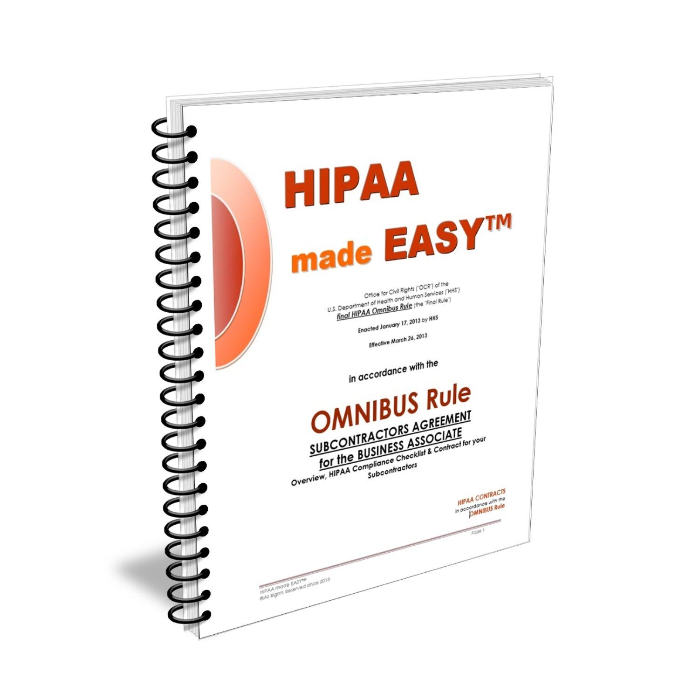 Amazon 2018 Hipaa Made Easy Omnibus Rule Subcontractors