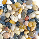 SACKORANGE 2 LB Aquarium Gravel River Rock - Natural Polished Decorative Gravel, Small Decorative Pebbles, Mixed Color…