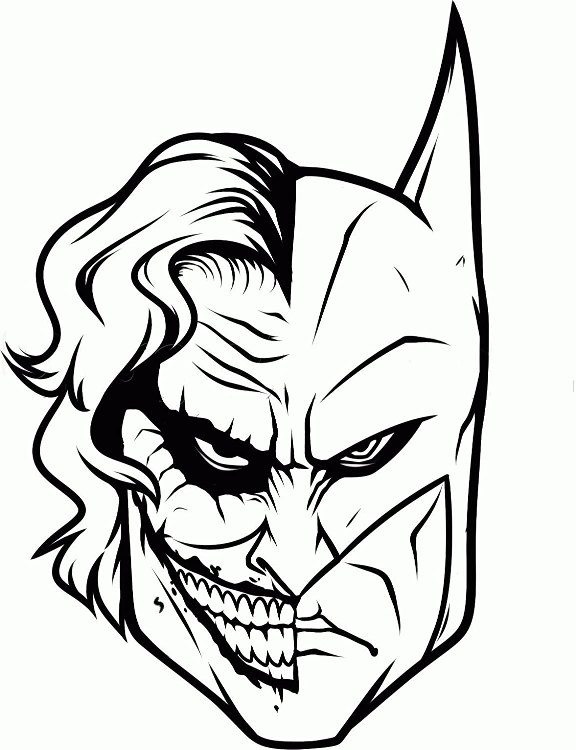 Amazon com batman joker face decal h 8 5 by l 5 inches more colors available please message us your color choice automotive