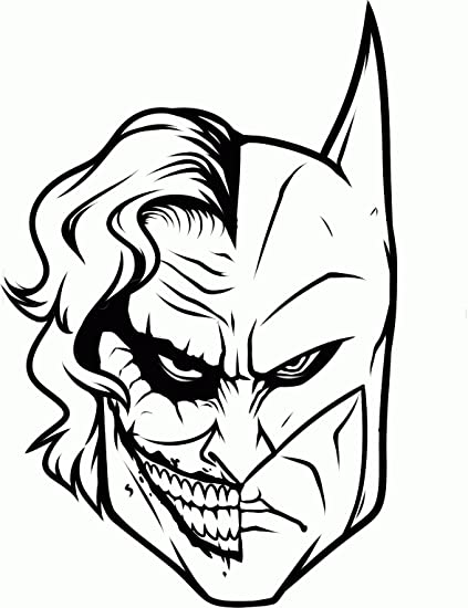 Amazon Batman Joker Face Decal H 85 By L 5 Inches More