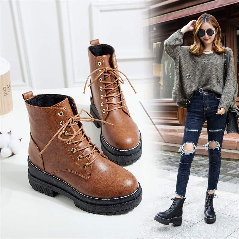ZHRUI High High High Heels Stiefel Martin Stiefel mit vielseitigen Damenstiefeln für mehr Komfort (Farbe   39, Größe   Braun) 55fa94