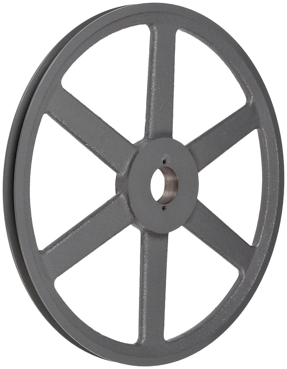 1 Groove TB Woods BK140 FHP QT Bushed V-Belt Sheave QT Bushing required B Belt Section 13.75 OD Cast Iron 1820 max rpm