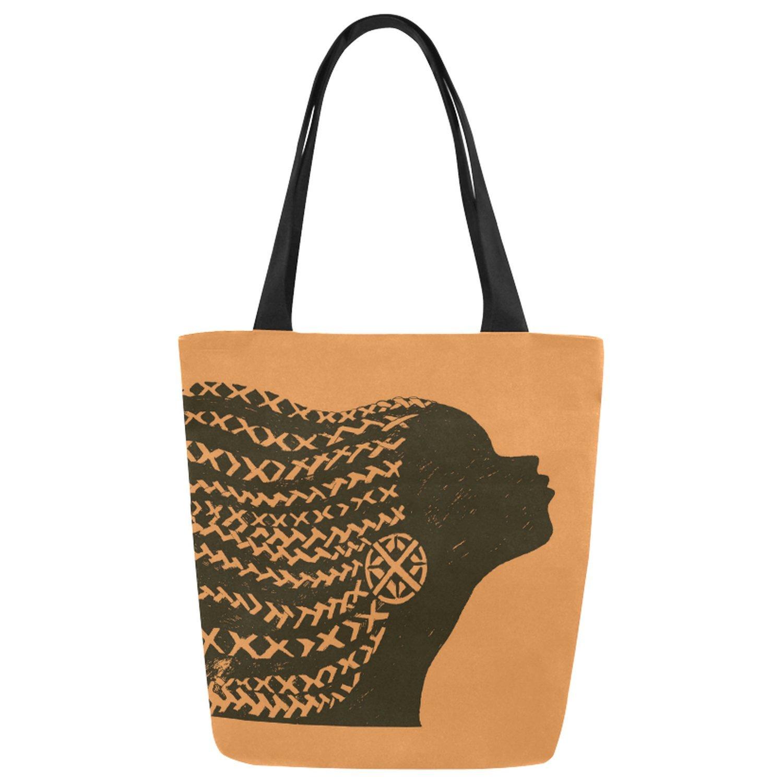 熱販売 interestprint美しいアフリカ女性ブラックキャンバストートバッグショルダーバッグハンドバッグGrocery Bag for for School、ショッピング、旅行 B077VRZSJ8 B077VRZSJ8, 西城町:52b8fa0c --- ballyshannonshow.com
