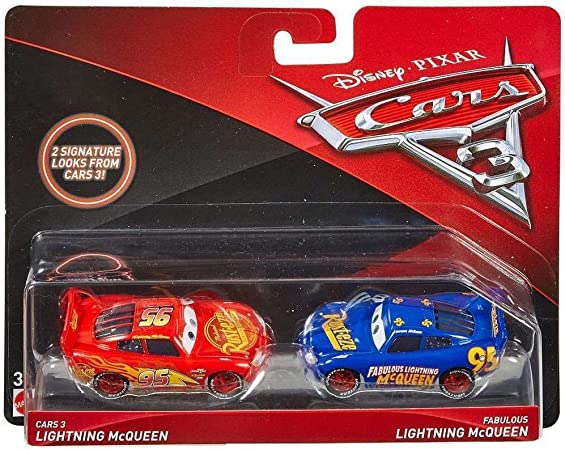 Disney Pixar Cars 3 Lightning McQueen /& Fabulous Lightning McQueen 2-Pack