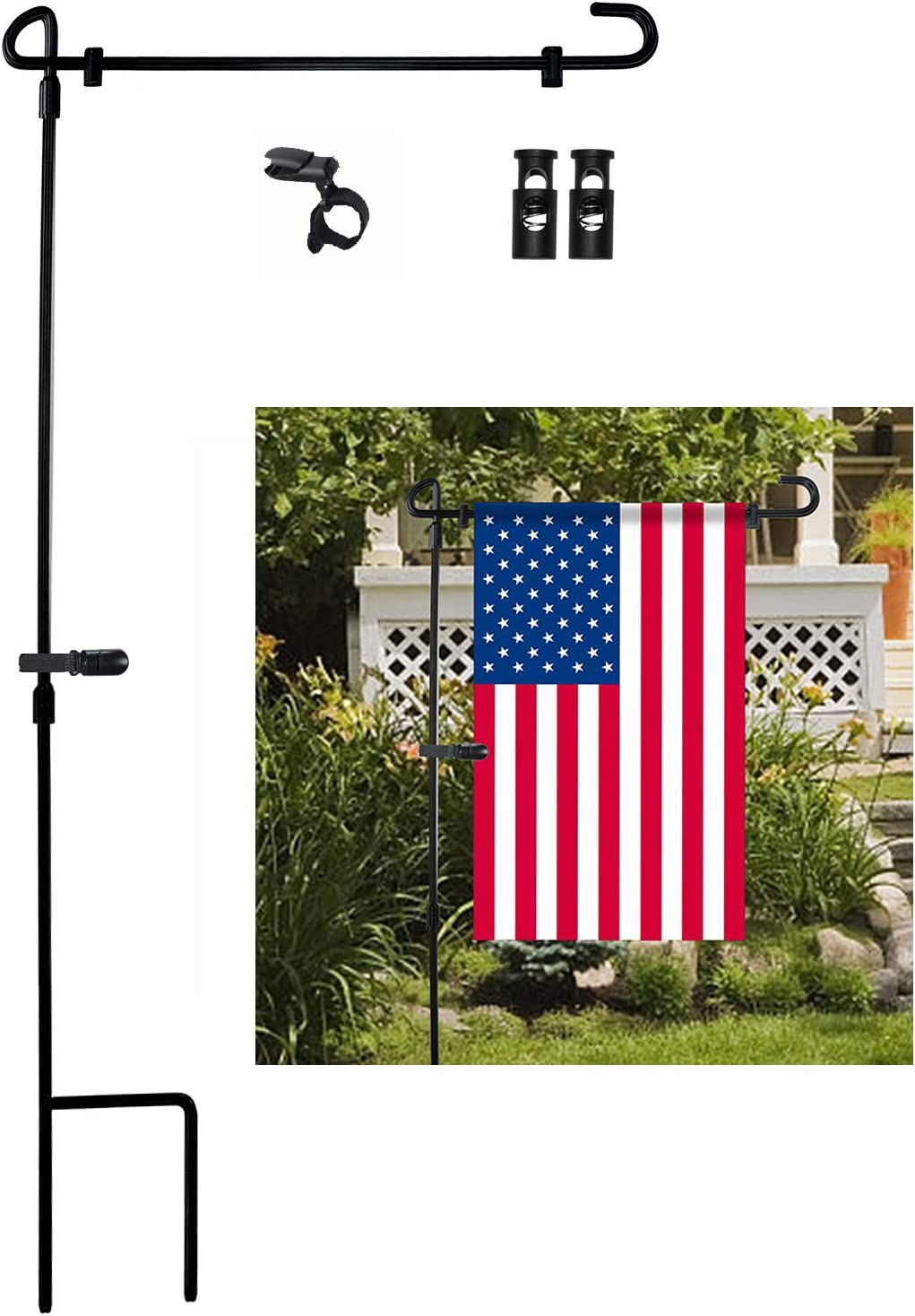 Amazon Com Garden Flag Stand Premium Garden Flag Pole Holder