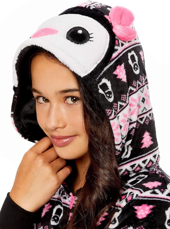 Girls Pajamas Plush Zippered Kids Animal Onesie Blanket Sleeper