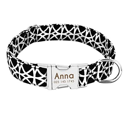 9bcecfc16700 Image Unavailable. Image not available for. Color: Dog Collar Personalized  Nylon Pet Dog Tag Collar Custom Puppy Cat Nameplate ID Collars Adjustable  for