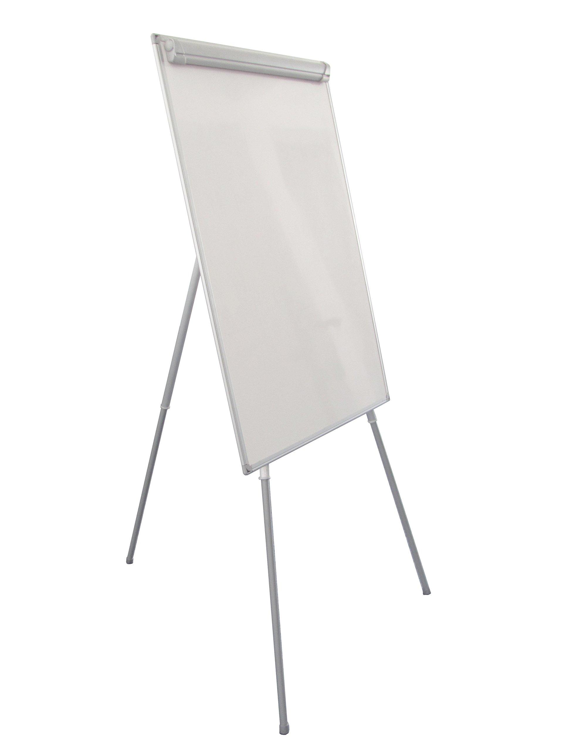 Magnetic Presentation Easel Board,Flipchart, Magnetic Dry-Erase Board,Aluminum Frame, 42''H x 29-1/2''W