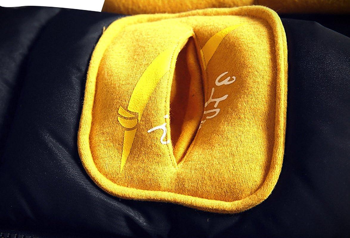 SellerFun Girls Fashion Zip up Puffer Coat Patchwork Hooded Padded Jacket