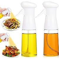 Olive Oil Sprayer 2PACK Vegetable Spray Bottle for Cooking Oil, Refillable Spritzer Dispenser Reusable Vinegar Essential…