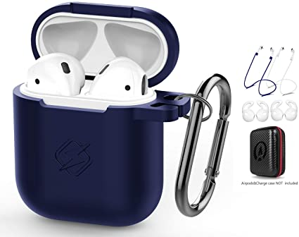 9a2bf8bb580 DZANHOT AirPods Case 7 in 1 Airpods Accessories Kits Protective Silicone  Cover and Skin for Apple