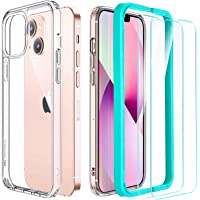 ESR Hybrid Case Compatible with iPhone 13, Includes 2-Pack Tempered-Glass Screen Protectors, Reinforced Drop Protection…