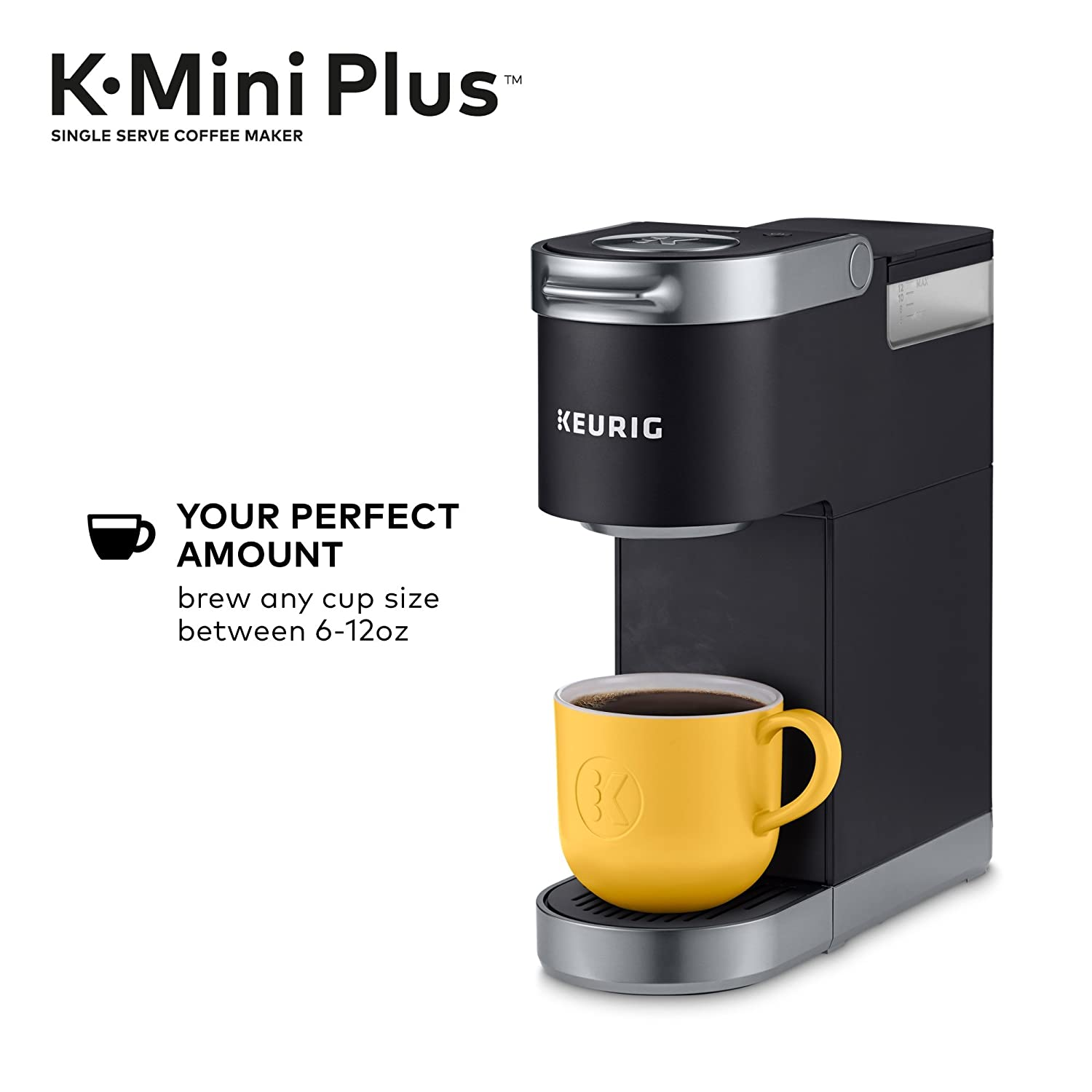 Cardinal Red with 6 to 12oz Brew Size Travel Mug Friendly Keurig K-Mini Plus Single Serve K-Cup Pod Coffee Maker Stores up to 9 K-Cup Pods