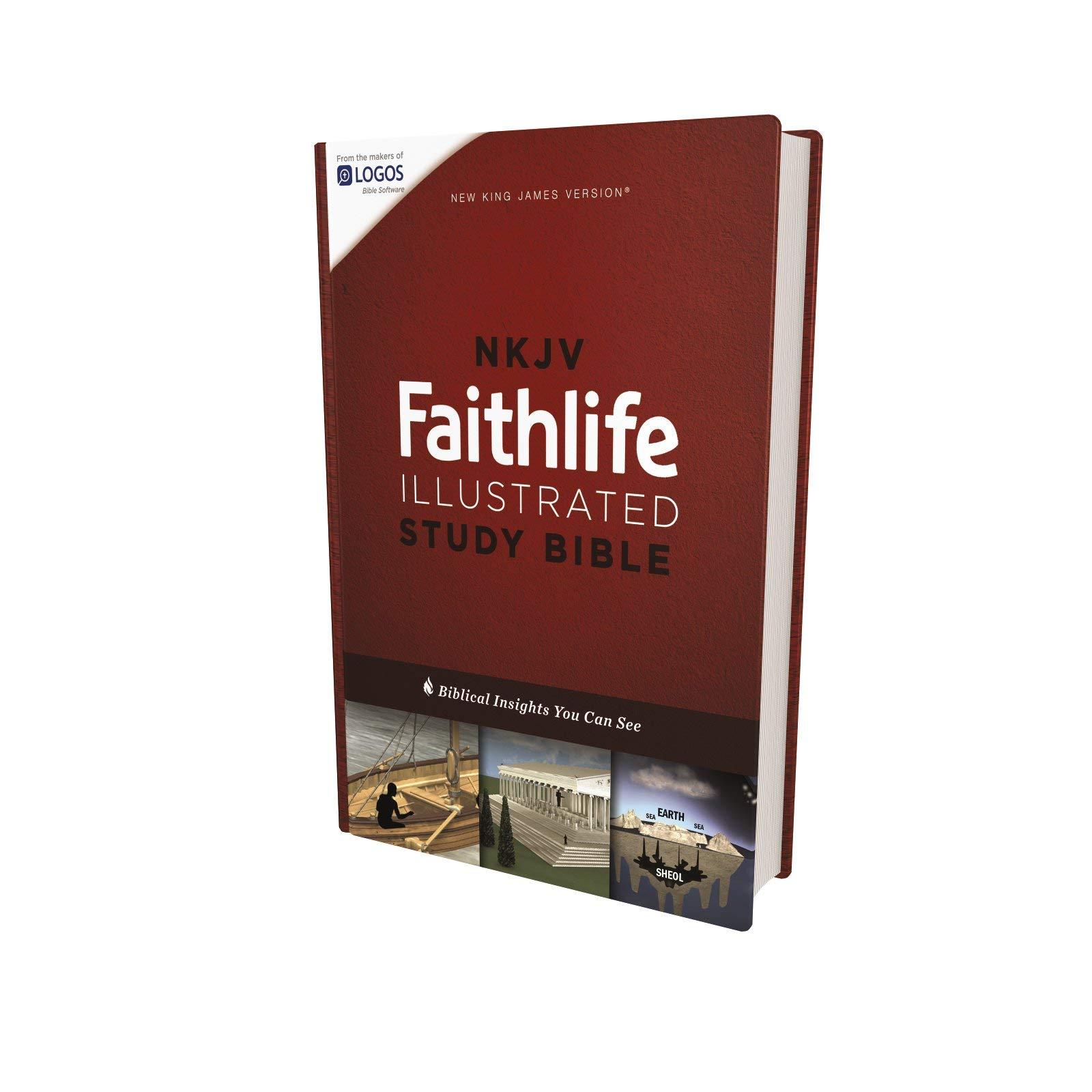 NKJV, Faithlife Illustrated Study Bible, Hardcover, Red