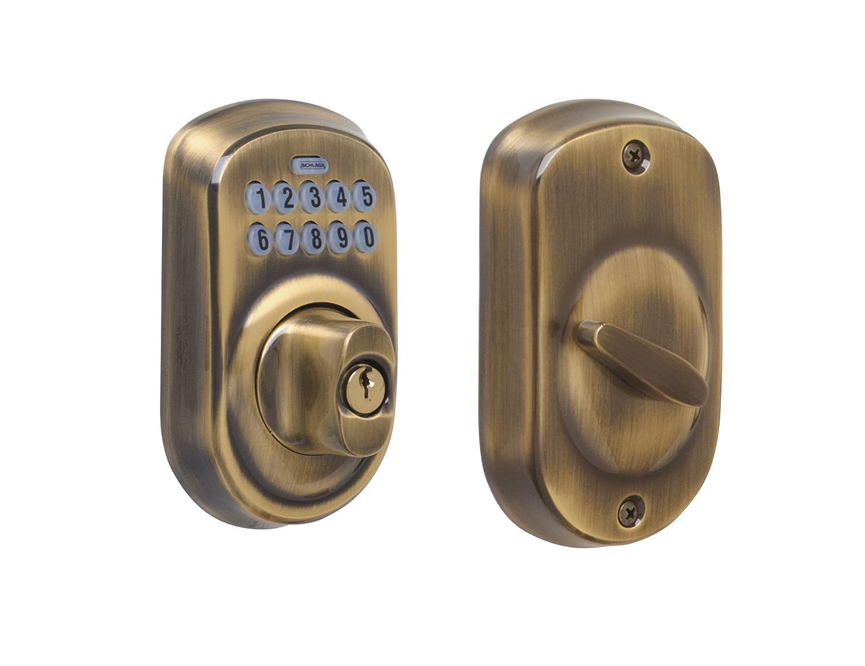 Bright Brass Schlage BE365 CAM 505 Camelot Keypad Deadbolt